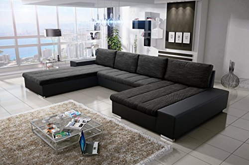 Sofa Couchgarnitur Couch Sofagarnitur Verona U Polstergarnitur Polsterecke Wohnlandschaft mit Schlaffunktion