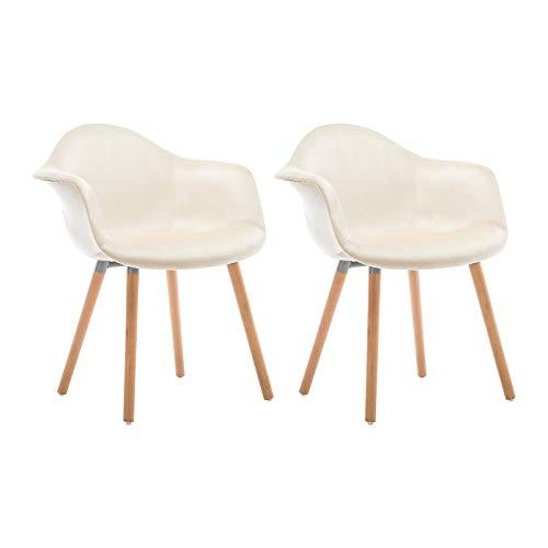 WOLTU® #980 Esszimmerstühle 2er Set Esszimmerstuhl mit Lehne Design Stuhl Küchenstuhl Holz