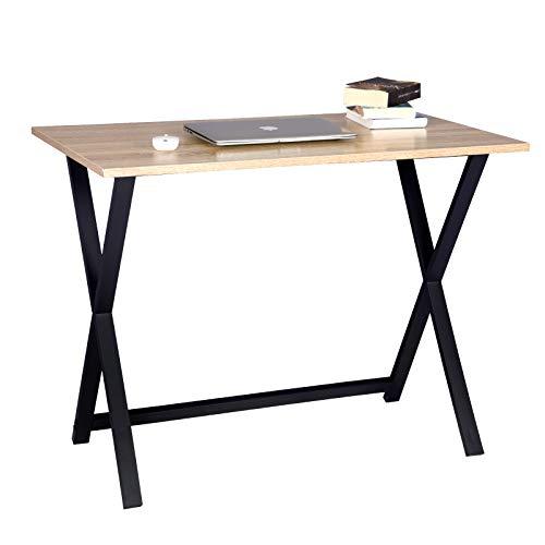 WOLTU TSB35hei Schreibtisch Computertisch Büromöbel PC Tisch Bürotisch Arbeitstisch aus Holz und Stahl, ca. 100x60x75,5 cm