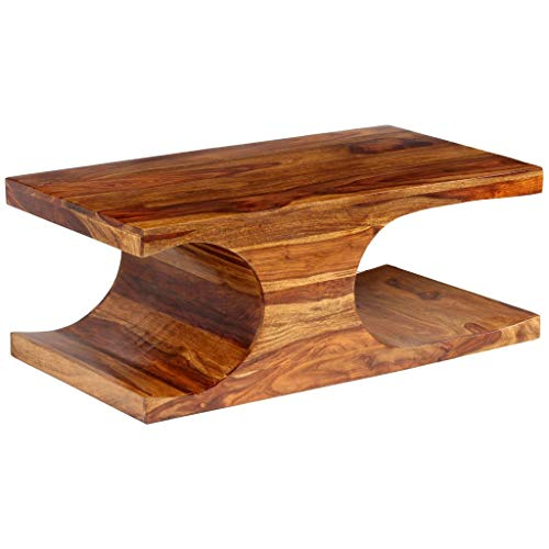 vidaXL Couchtisch Sheesham Holz Palisander Wohnzimmertisch Beistelltisch