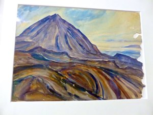 Teide-Gemaelde El Teide Gustav Gulde 1934 2016-04-01 Foto Elke Backert