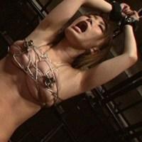 巨乳緊縛責めでおっぱい凌辱!針金緊縛、乳挟みで緊縛美女を乳嬲り美月優芽 深美せりな