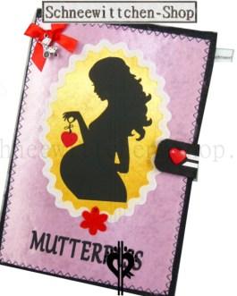 Mutterpasshülle Mutter mit Herz in rosa