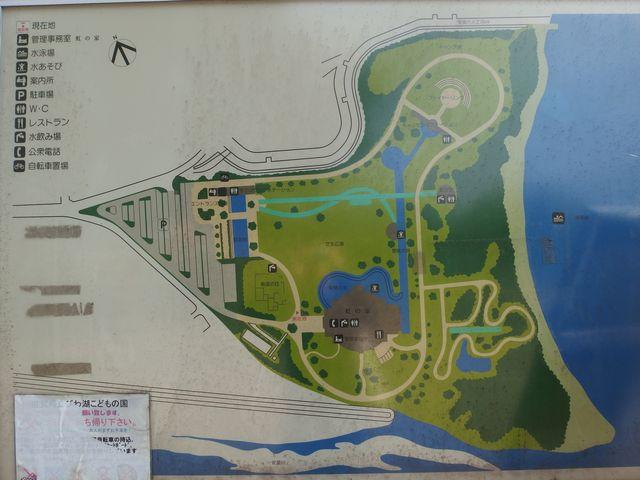 滋賀県立びわ湖こどもの国の案内図