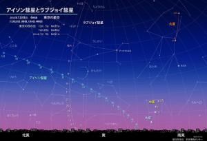 ラブジョイ彗星の位置!
