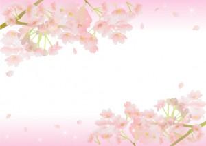 桜のイラストの枠01
