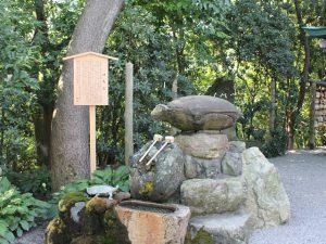 安宅住吉神社 神亀石