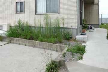 新宮町 一軒家 庭の草引き|えびす造園
