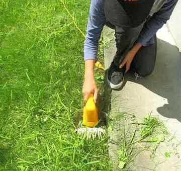 福岡市中央区 一軒家 庭の芝刈り|えびす造園