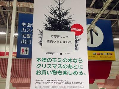 IKEA もみの木完売