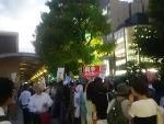 【お盆休みに・・】8/14シールズ戦争法案反対デモ:国会前に8000人!京都タワー前に1000人!