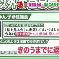【モリカケ級に発展か!】モーニングショーが「桜を見る会」を特集!「三原じゅんこ議員の母や叔母はどのような理由で招待されたのか?」