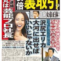 2019/11/19(火)プチニュース「日米協定の審議 「桜」に埋没」「ニューオータニはドリンクと室料で1人5000円を超える」など