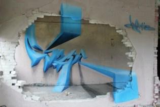 graffiti imposible en benesov, república checa