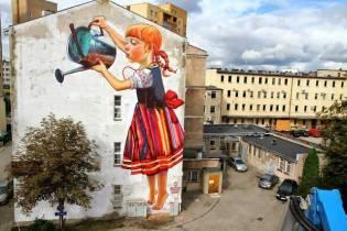 graffiti de natalie rak en polonia