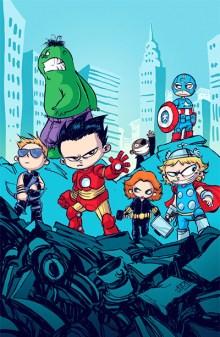 Skottie-Young-avengers-niños