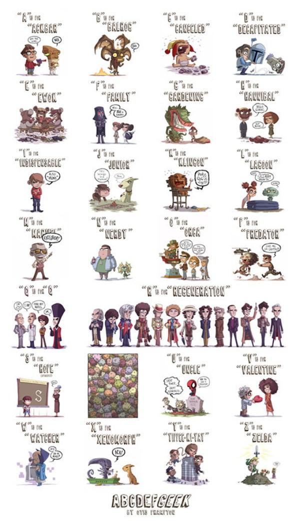 abecedario-ñoño-comic-geek-nerd-cool