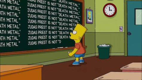 bart-simpson-pizarra-judas-priest-not-dead-metal