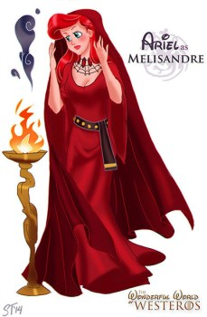 ariel-sirenita-disney-melisandre-game-of-thrones