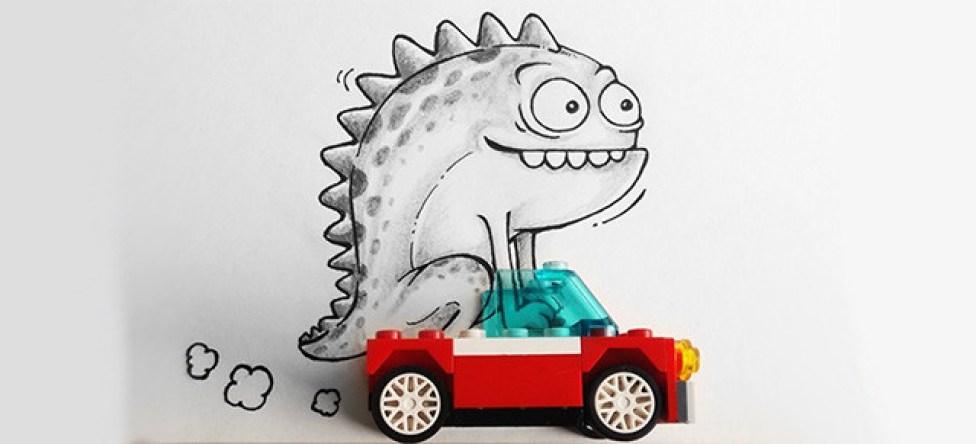 caricatura-dinosaurio-auto-lego-real-manik-n-ratan