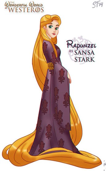 rapunzel-disney-sansa-stark-game-of-thrones