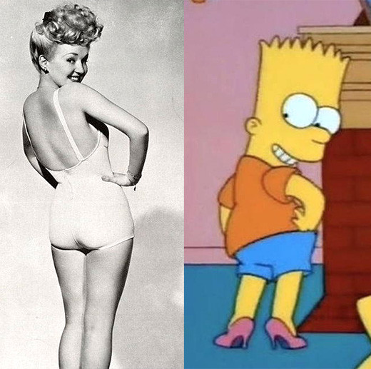 bart-simpson-pin-up-girl-betty-grable