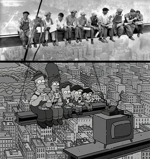 simpson-obreros--almuerzan-rascacielos-construccion-derechos-laborales