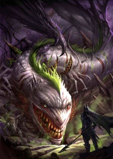 ilustracion-batman-fantasia-guason-dragon
