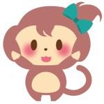 干支_猿女の子B04