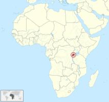 Mapa Ruanda
