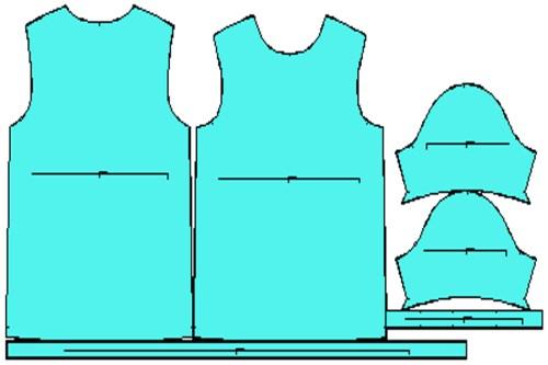 Πατρόν μπλούζα ανδρική κοντό μανίκι L