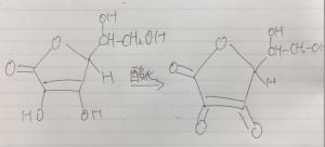 ビタミンCの構造式