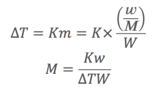 分子量を求める公式