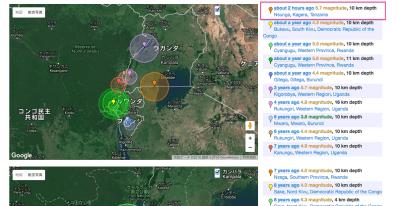 海外で役立つ地震情報サイト&ルワンダで大地震は起きるのか?