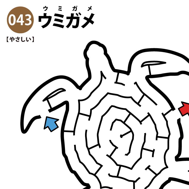ウミガメの簡単迷路 アイキャッチ