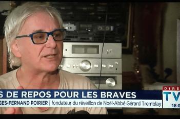 « Pas de repos pour les braves » : Georges-Fernand Poirier à TVA Nouvelles le 24 décembre 2019