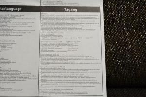 Precautions Tagalog