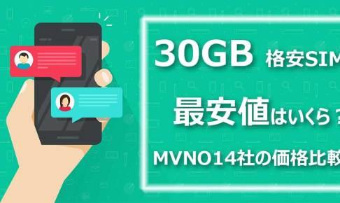 30GB格安SIM最安値