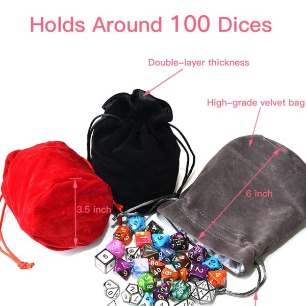 Gray Bag of Holding Dice Bag