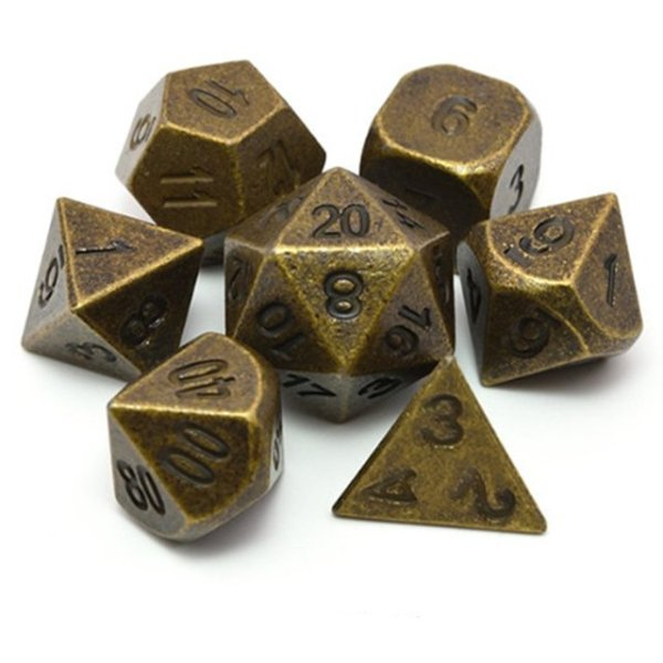 Metal Dice - Iron Forge Gold