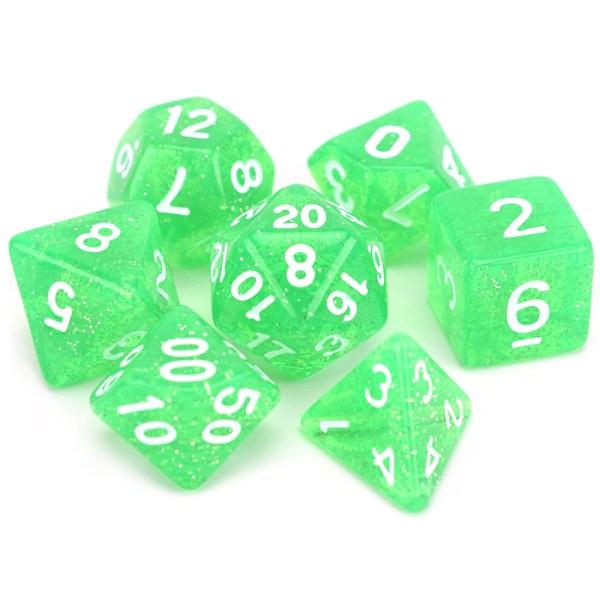 Glitter Dice - Green