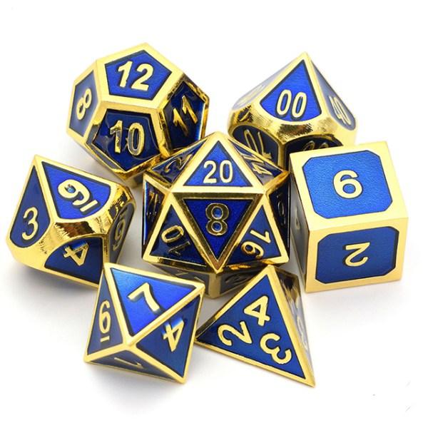 Metal Dice Set - Allegiance Blue