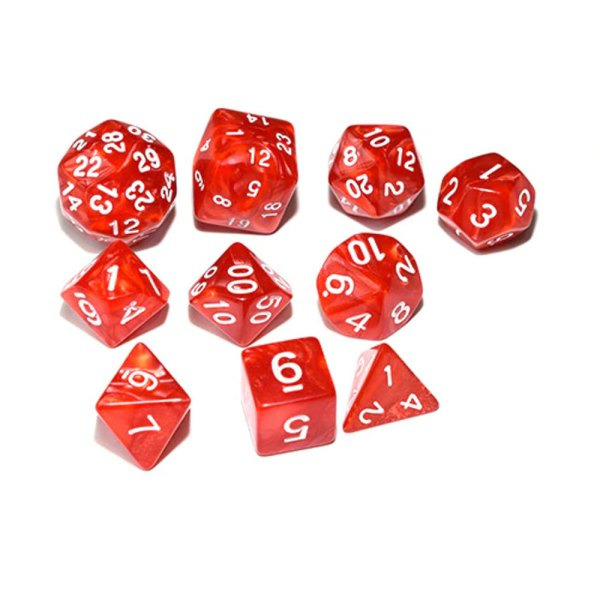 RPG Dice Set - Red