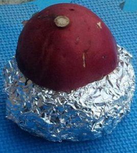バーベキュー余った炭で作る・シンプル【焼き芋】の作り方(オーブンレンジ)