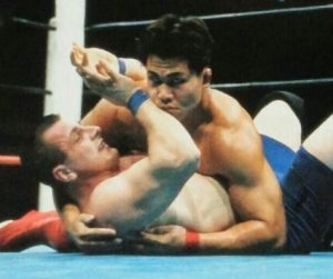 第60戦目(リングス5 戦目)  メガバトルトーナメント一回戦田村潔司vsイリューヒン・ミーシャ 1996年10月25日 愛知県体育館