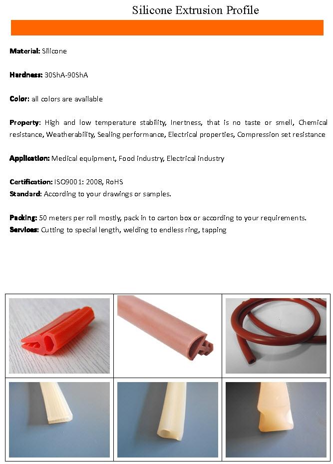 Silicone Extrusion Profile