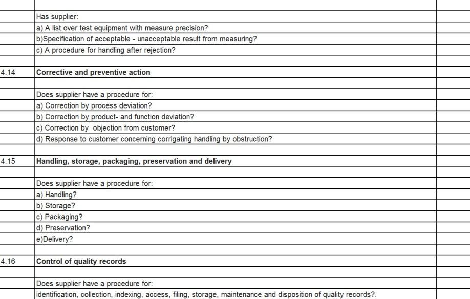 ISO 9001 Kvalitets Audit 4