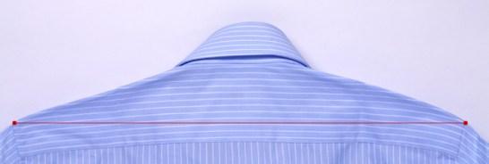 ワイシャツサイズについてネック(首回り)のサイズ
