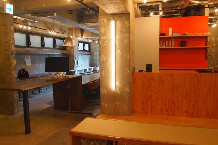 Bathhausのコワーキングスペースには便利なキッチンまで!