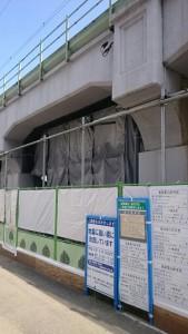 鶴見線高架耐震補強工事